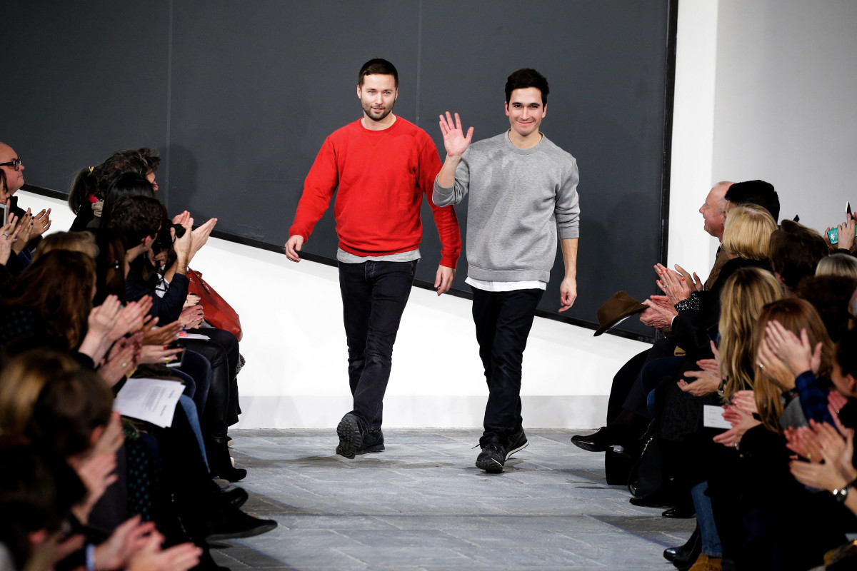Designers Jack McCollough and Lazaro Hernandez in February. Photo: JP Yim/Getty Images