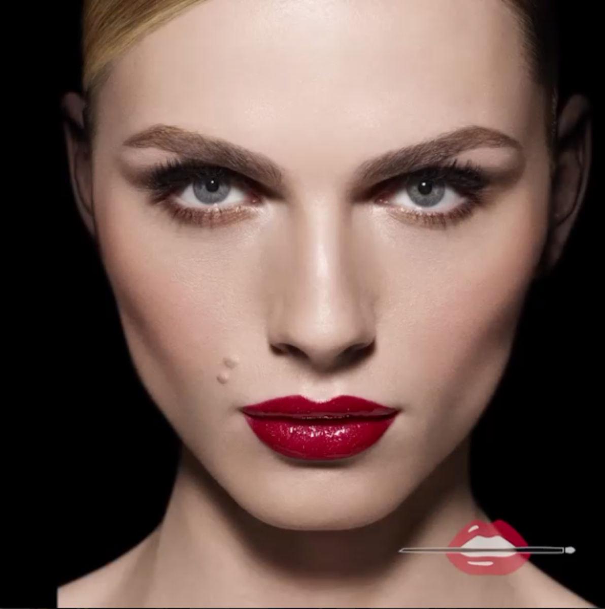 A look from Pejic's Make Up For Ever campaign. Photo: @andrejapejic Instagram