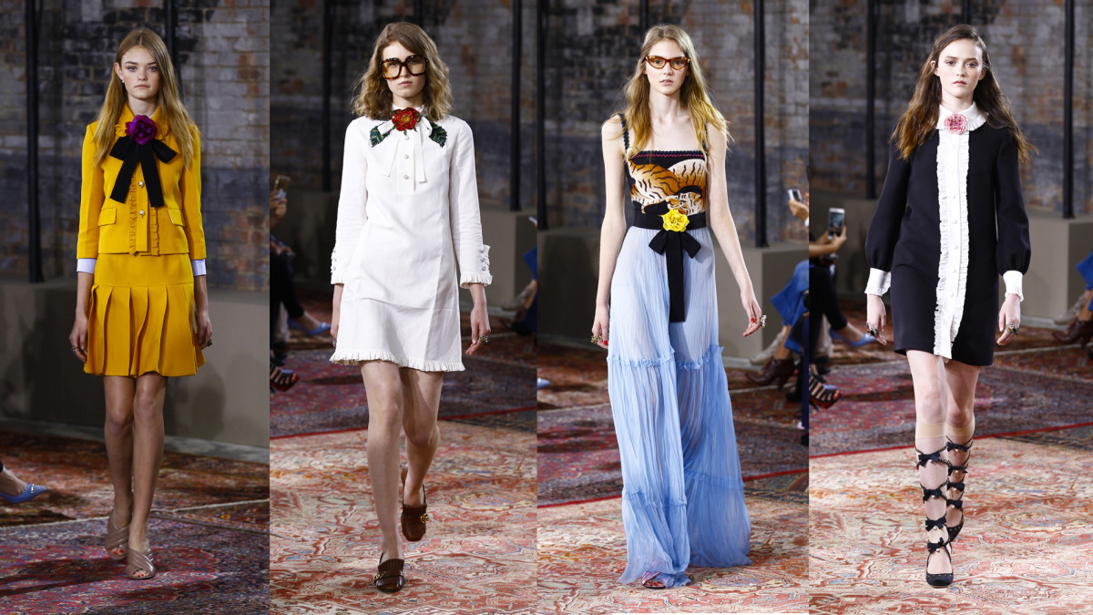 Looks from Gucci's 2016 resort collection. Photos: Gucci