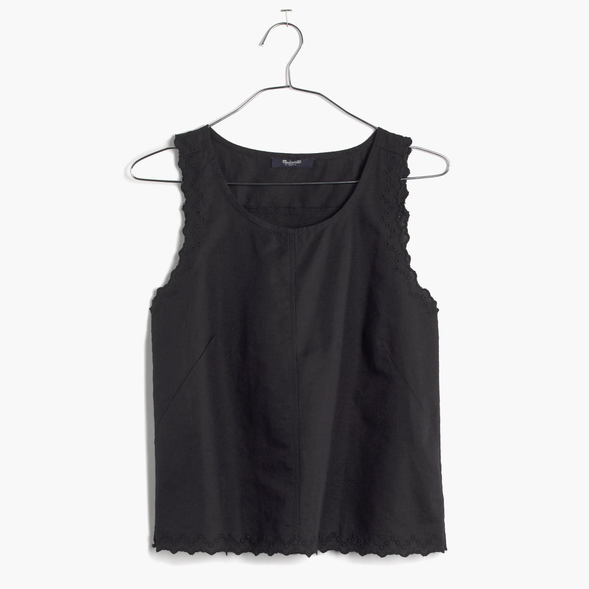 Madewell eyelet crop top, now $48.75, available at Madewell.