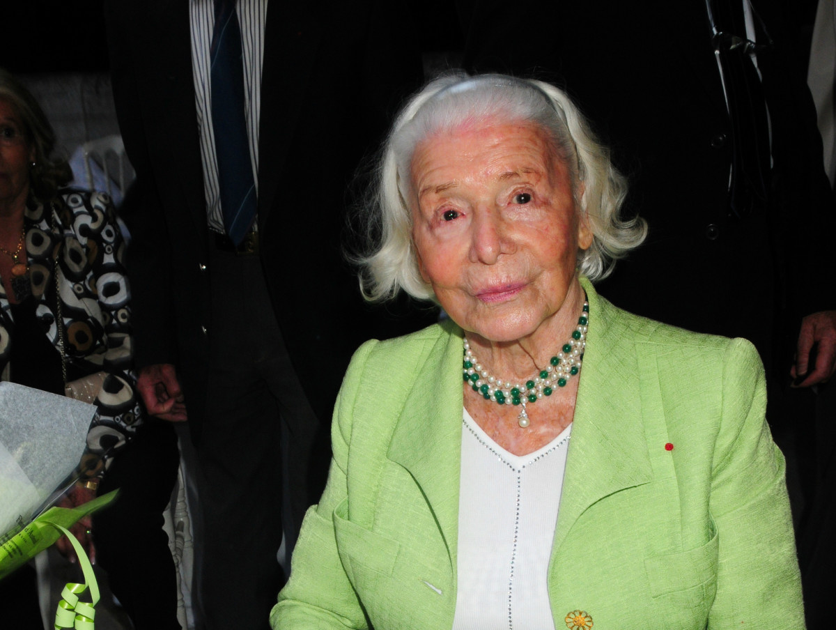 Madame Carven at her 100th birthday. Photo: Foc Kan/Getty Images