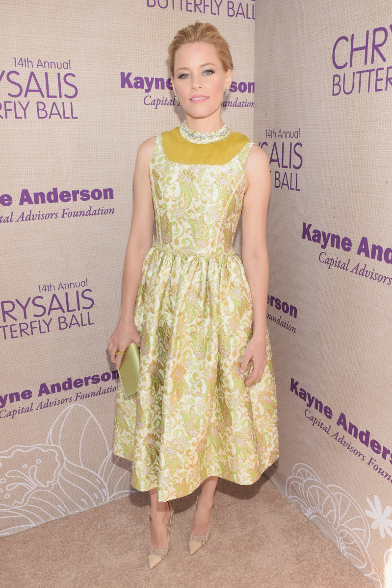 Elizabeth Banks in Prada. Photo: Jason Kempin/Getty Images