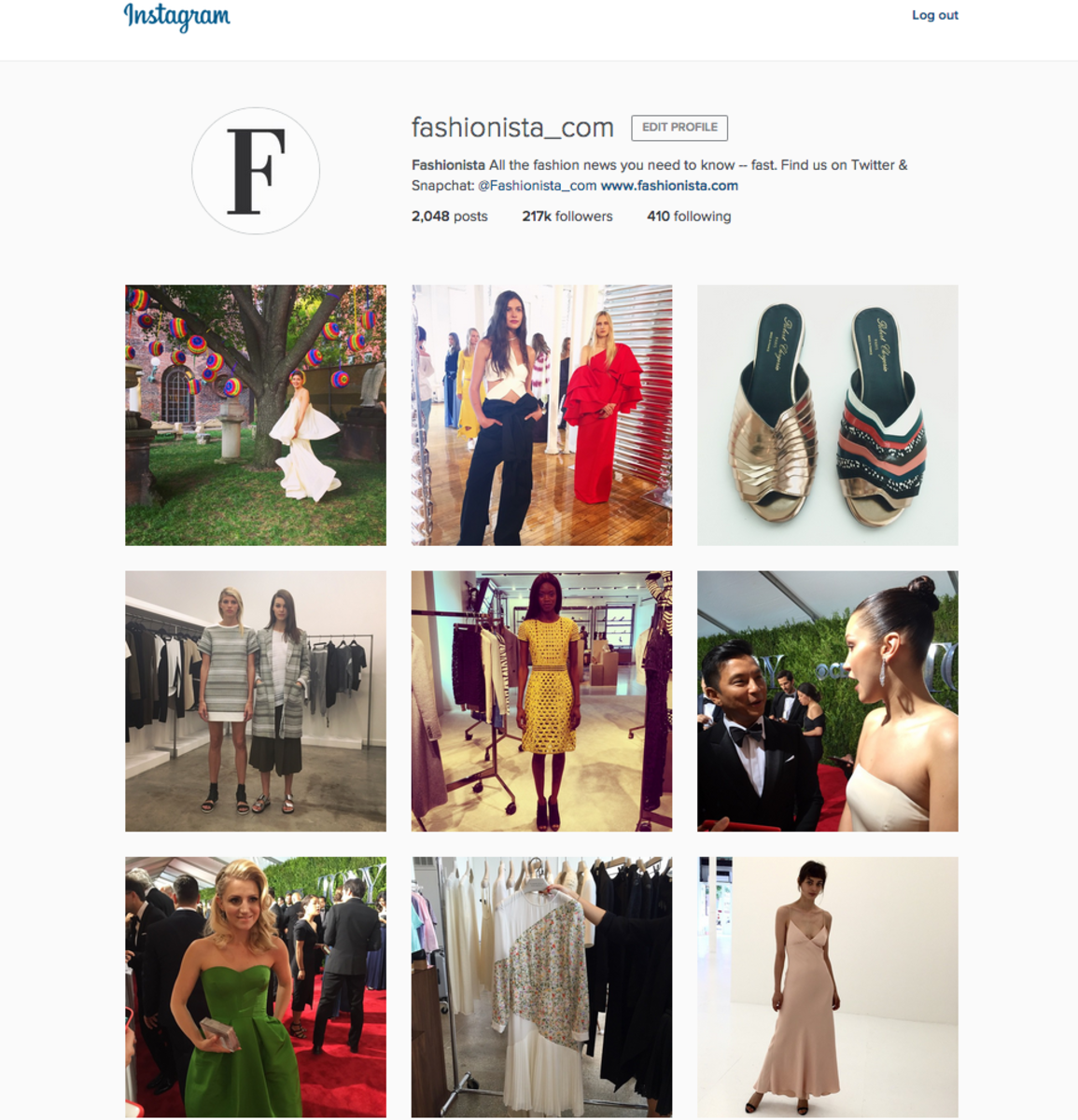 The new Instagram layout. Screengrab: @fashionista_com. (Follow us.)