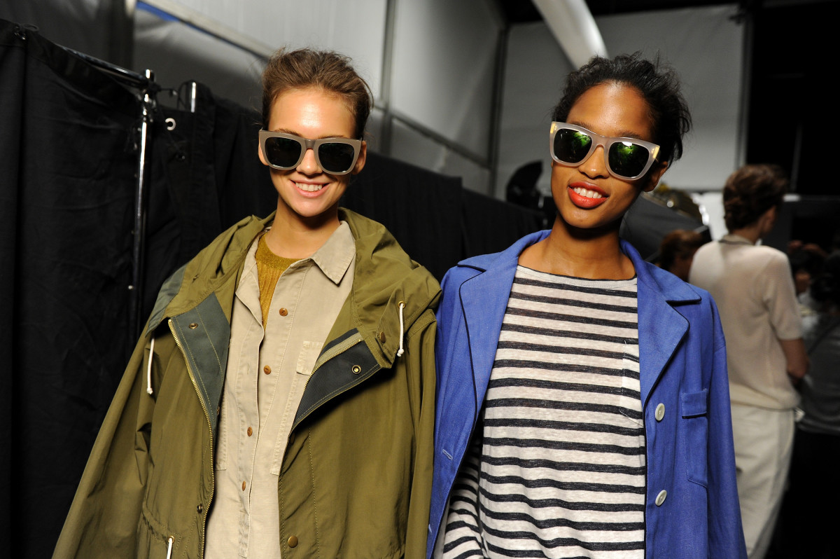 Models at J.Crew's spring presentation. Photo: Albert Urso/Getty Images