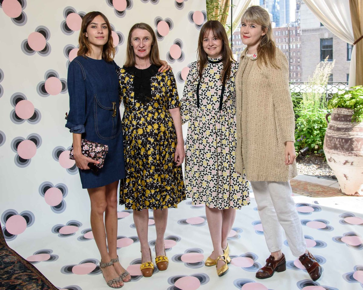 From L to R: Alexa Chung, Orla Kiely, Leith Clark and Tennessee Thomas. Photo: Hannah Thomson