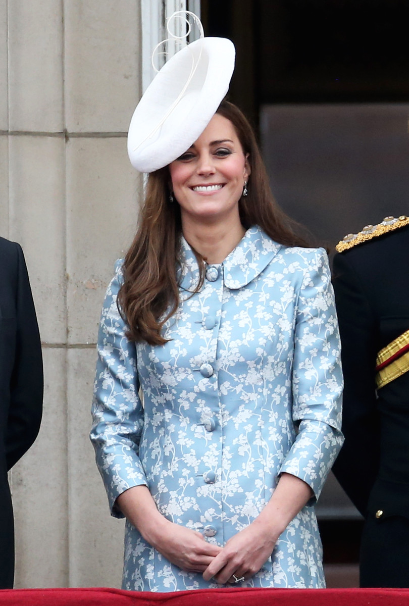 At least it covers the pimple she has on her forehead. JK! Kate doesn't get pimples. Photo: Chris Jackson/Getty Images