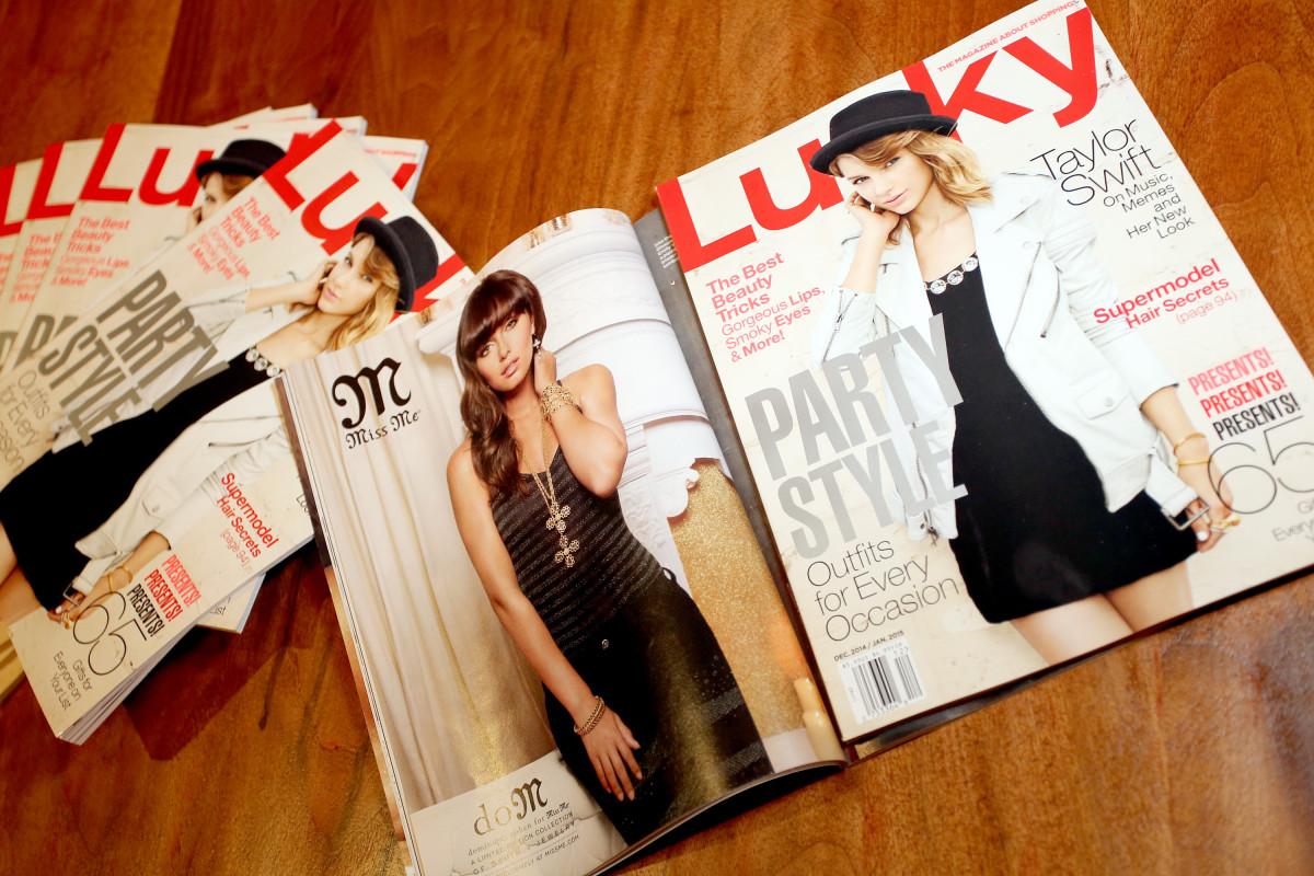 'Lucky' magazine. Photo: Rachel Murray/Getty Images