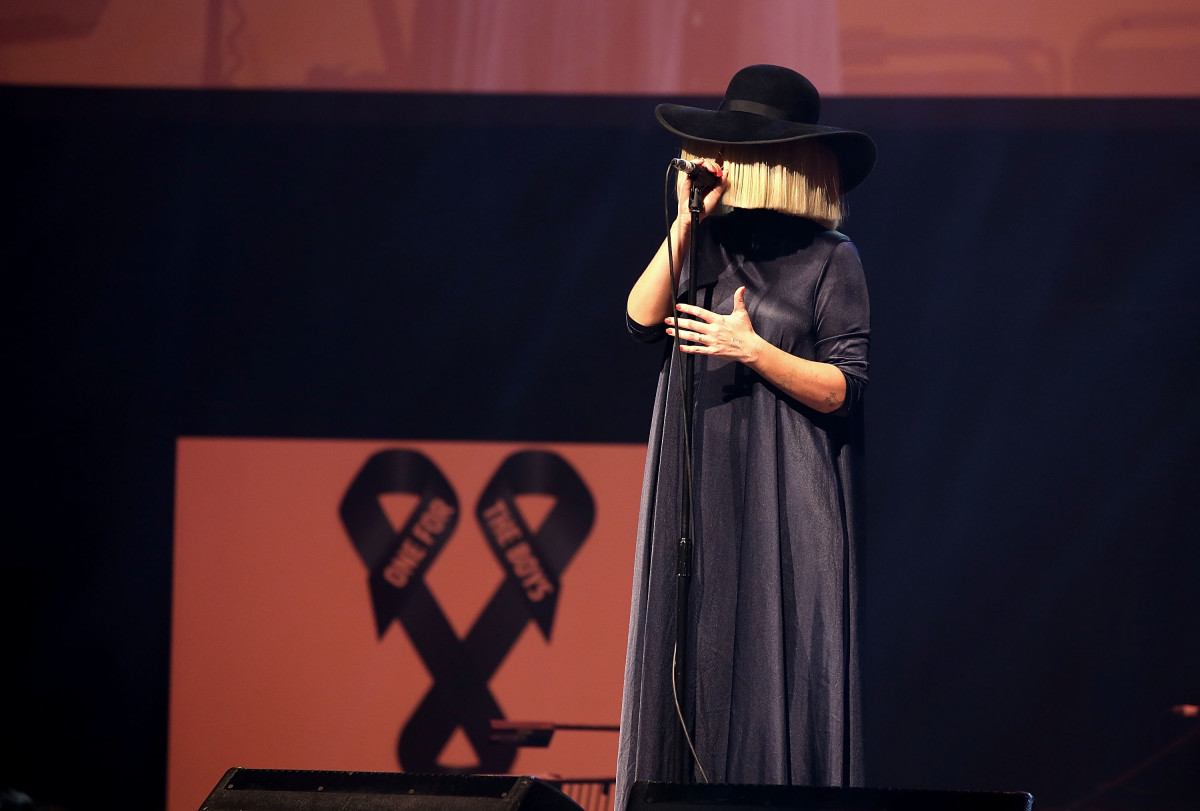 Sia on stage. Photo: One for the Boys