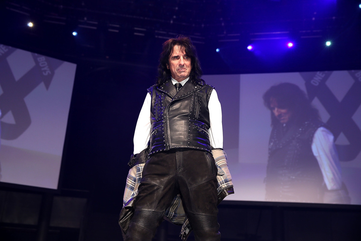 Alice Cooper takes a spin on the catwalk. Photo: One for the Boys