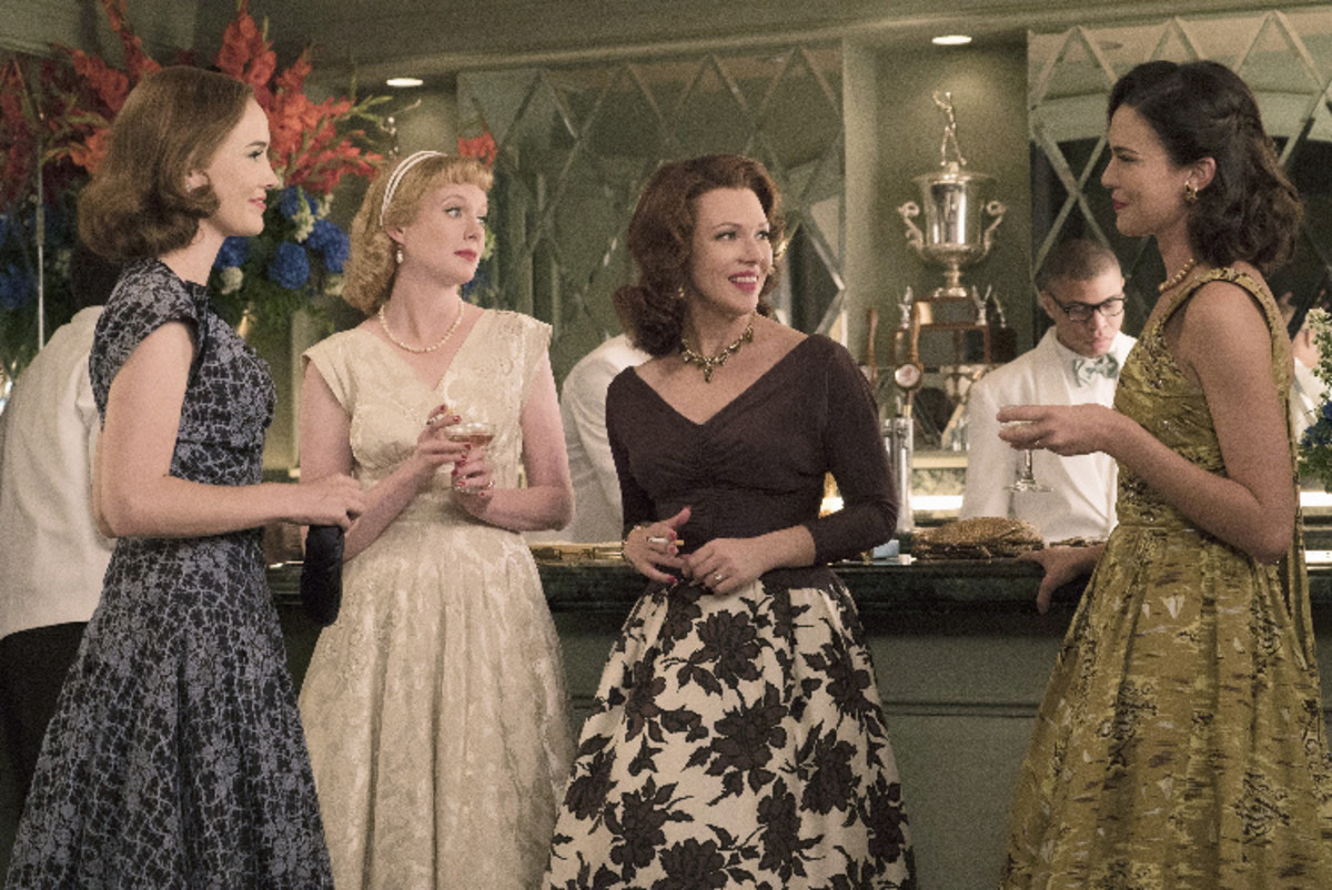 Louise, Jo, Marge and Trudy in their party dresses and signature colors. Photo: ABC/Cook Allender
