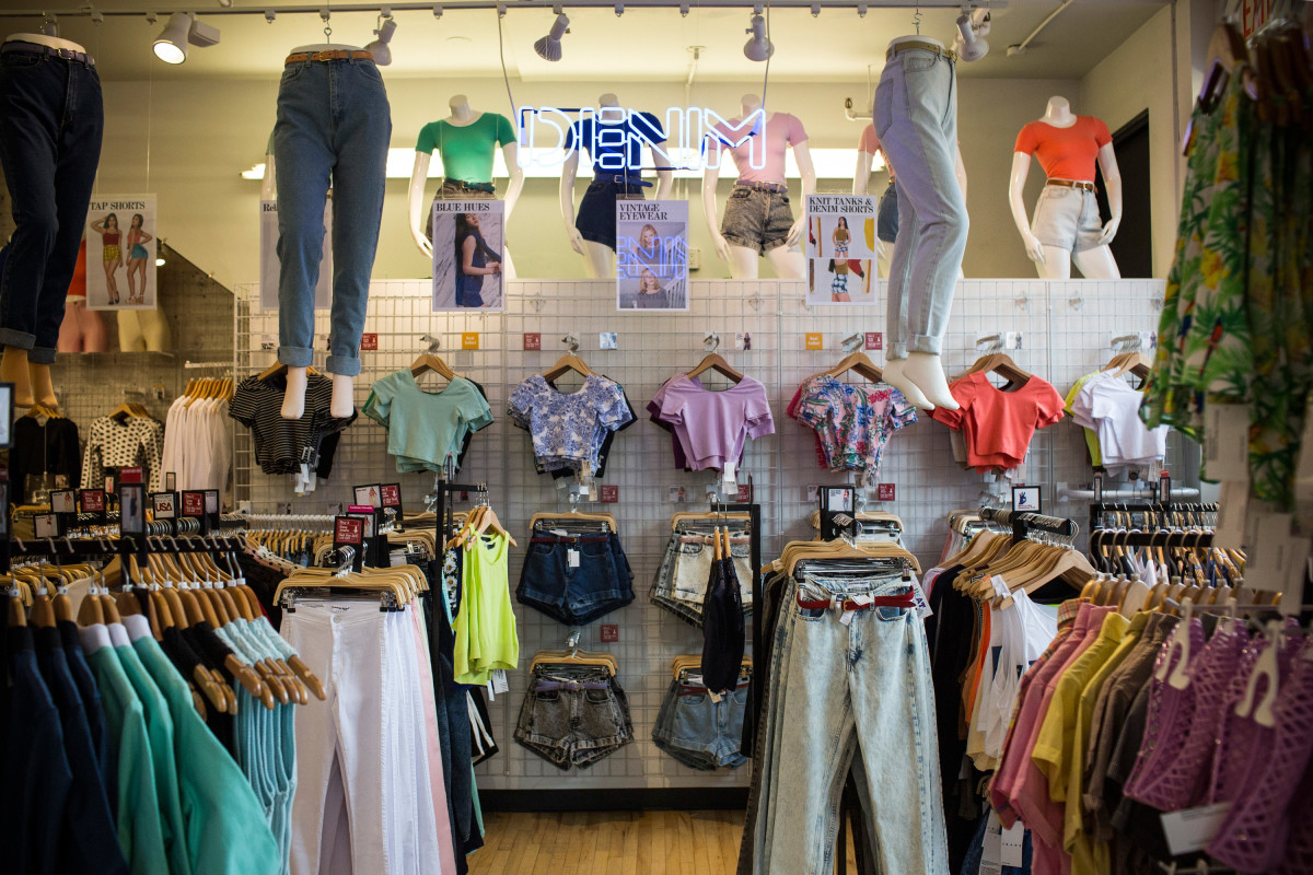 An American Apparel store in 2014. Photo: Andrew Burton/Getty Images