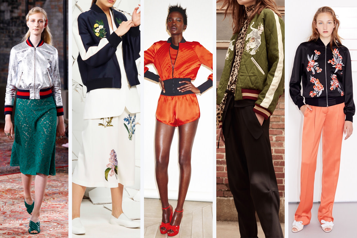 From left to right: Gucci, Stella McCartney, Sonia Rykiel, Chloe, and Jonathan Saunders