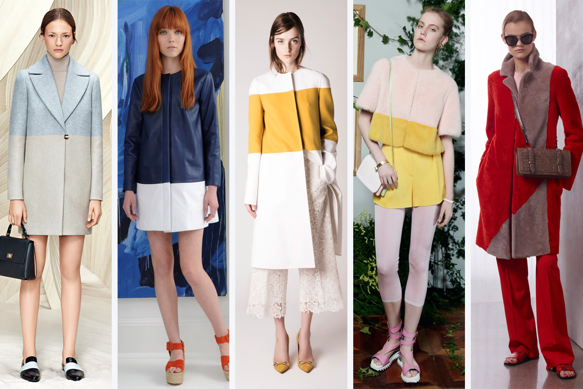 From left to right: Boss, Lisa Perry, Rochas, Vionnet and Bottega Veneta. Photos: Courtesy