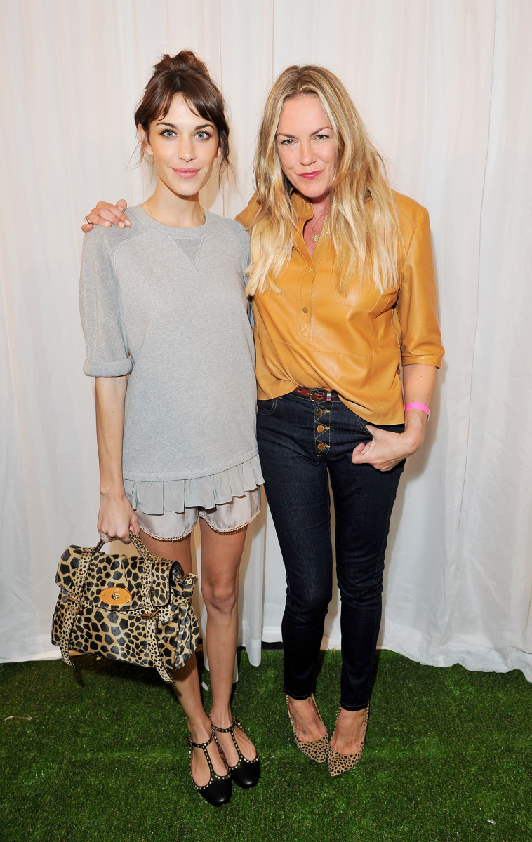 Alexa Chung and Emma Hill at Mulberry's spring 2013 show. Photo: Dave M. Benett/Getty Images