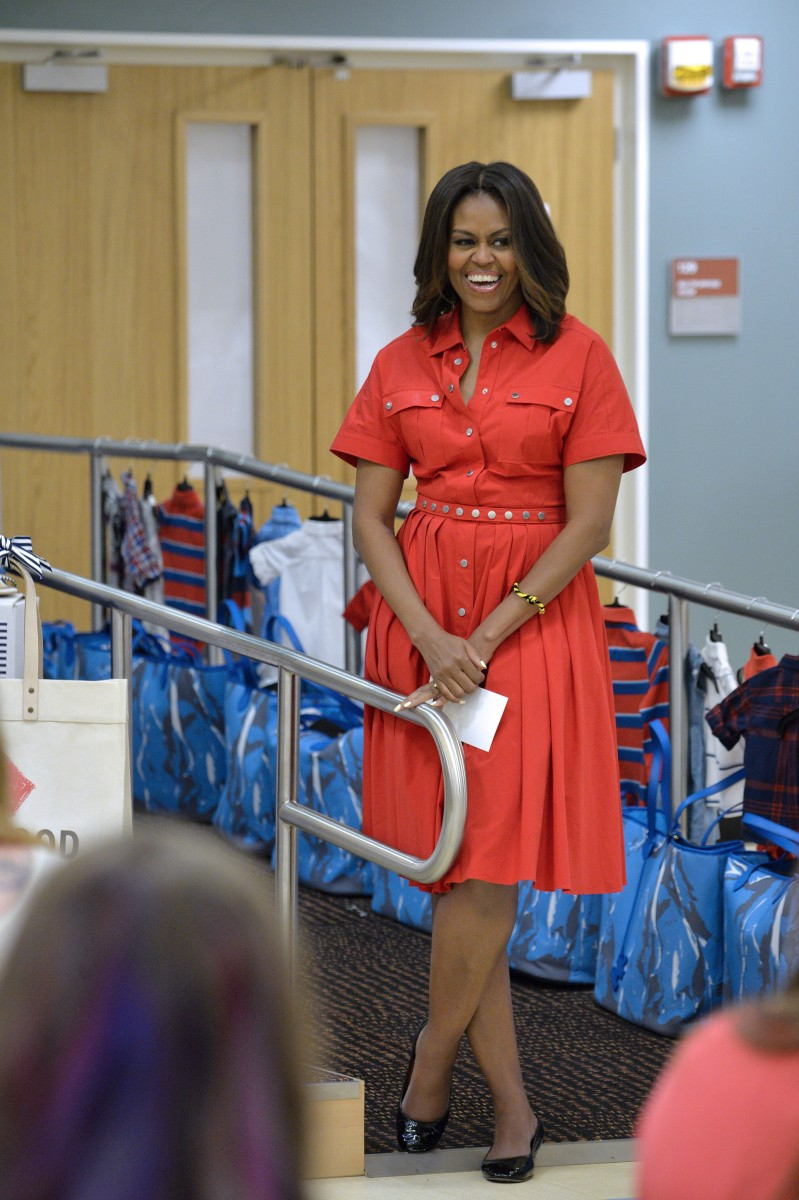 Michelle Obama in Michael Kors. Photo: Andreas Solaro/AFP/Getty Images