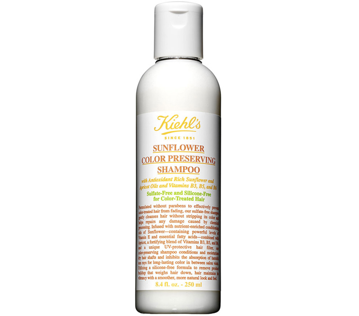 Kiehl's sunflower color-preserving shampoo, $7-$30, available at Nordstrom.