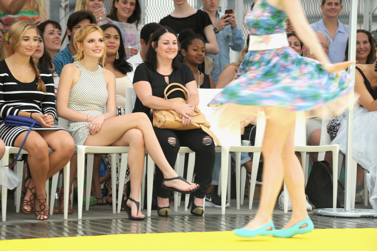 Actress Bella Thorne was a VIP guest at the Crocs Funway Runway fashion show. Photo: Craig Barritt/Getty Images for Crocs