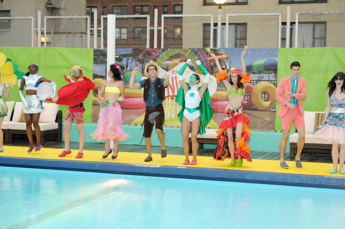 "The finale of the Crocs ""Funway Runway"" fashion show. Photo: Craig Barritt/Getty Images for Crocs"