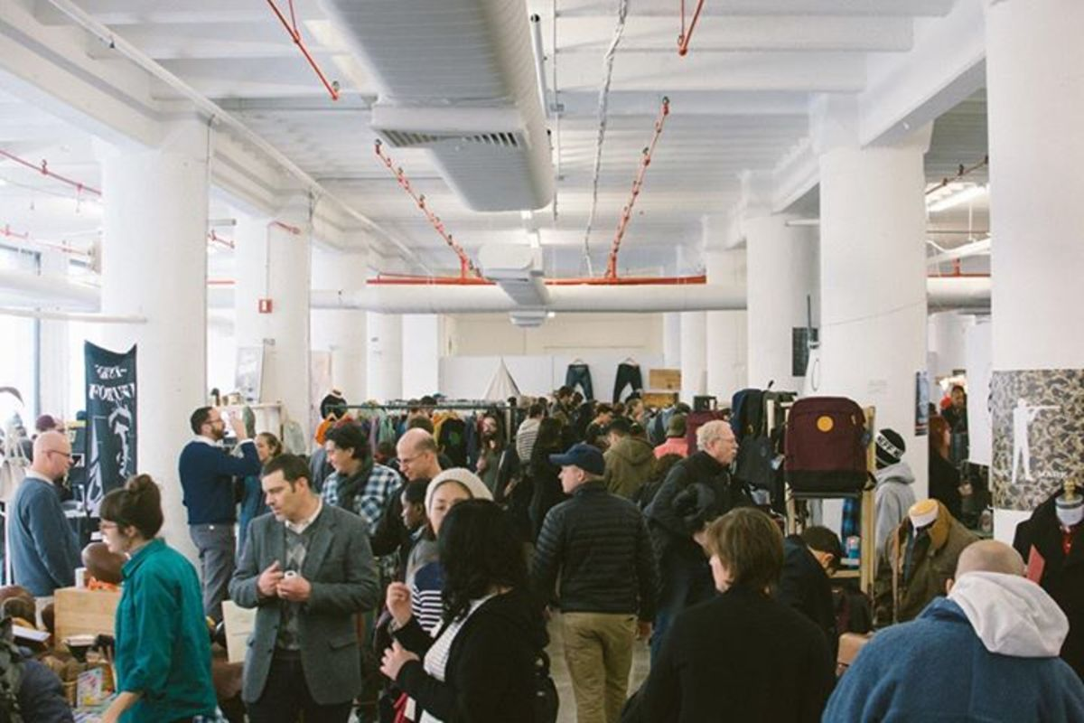 Shoppers at the inaugural American Field in Brooklyn in 2014. Photo: American Field