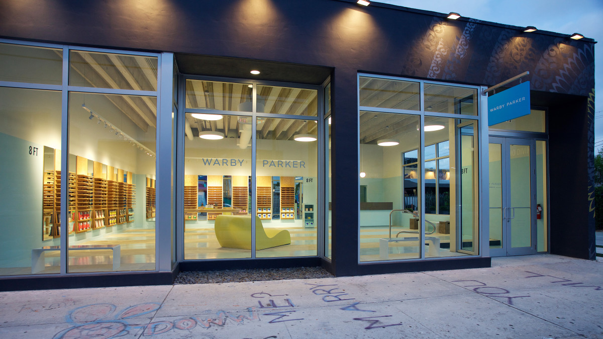 Warby Parker's new Miami store. Photo: Warby Parker