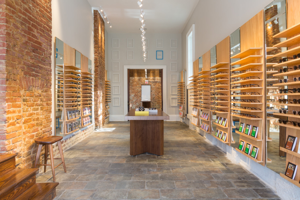 Inside a recently opened Warby Parker store in New Orleans. Photo: Warby Parker