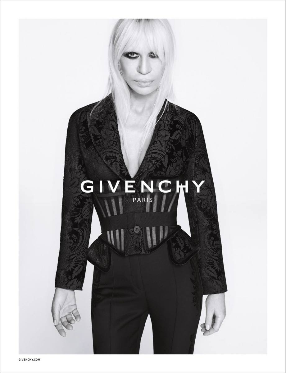 Donatella Versace in the fall 2015 Givenchy campaign. Photo: Givenchy