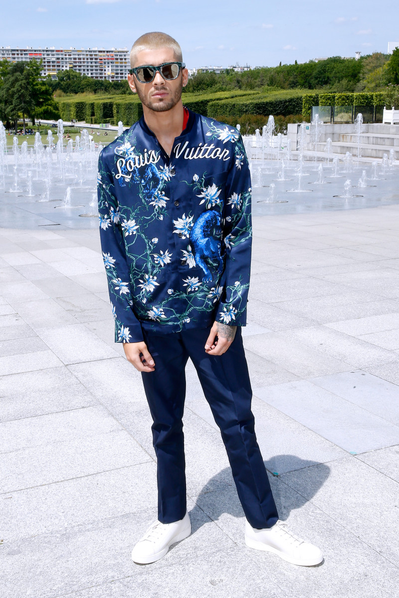 Zayn Malik in Louis Vuitton at the house's men's show in Paris. Photo: Bertrand Rindoff Petroff/Getty Images