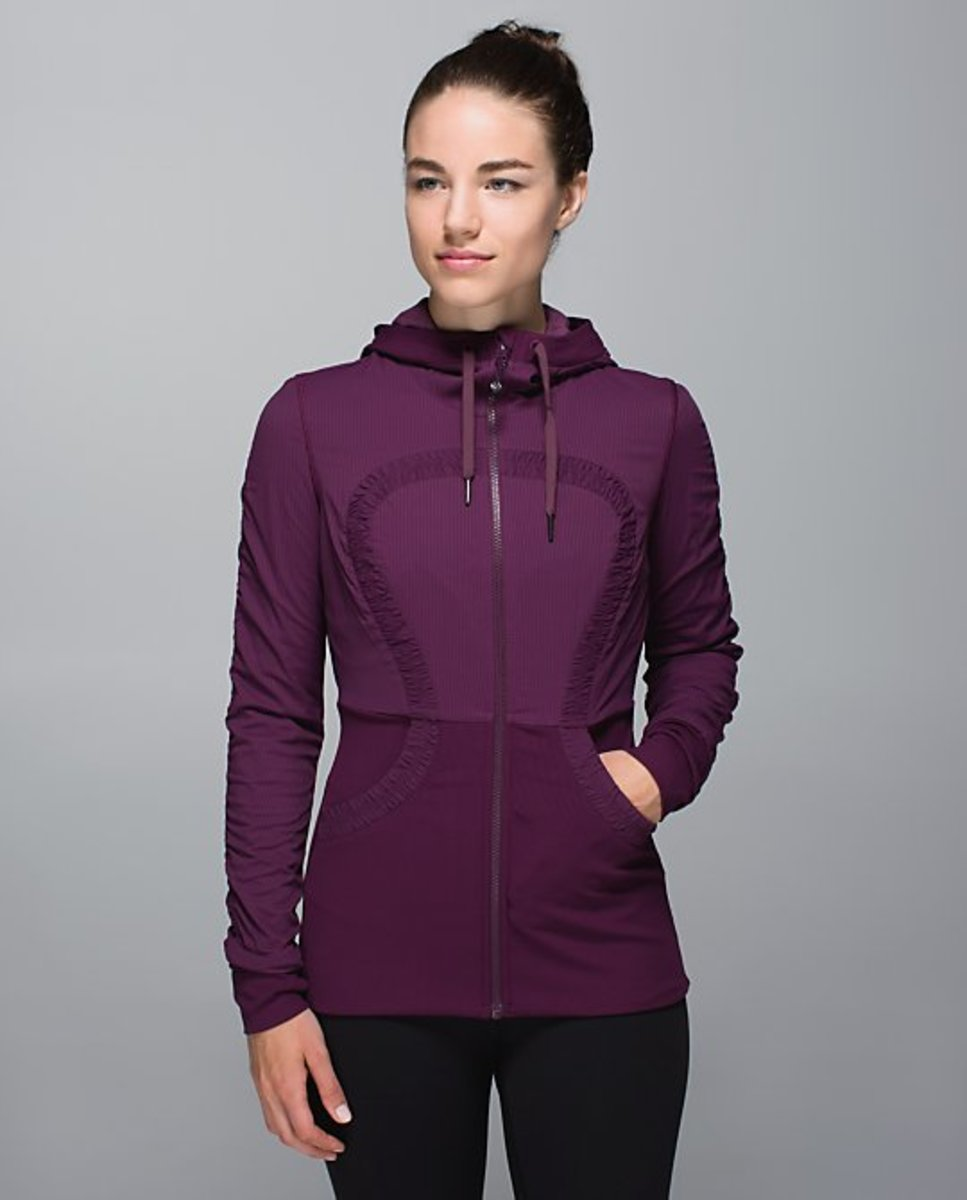 An earlier iteration of this Dance Studio Jacket is part of the recall. Photo: Lululemon