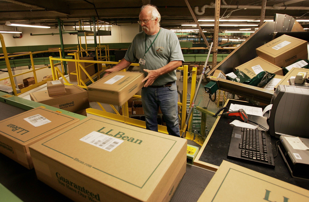 A L.L. Bean shipping center in Freeport, Maine. Photo: Joe Raedle/Getty Images