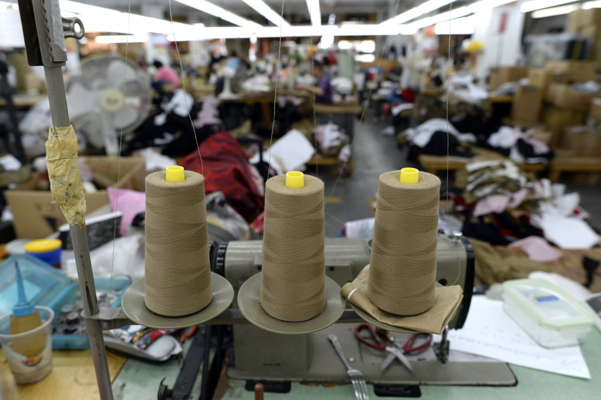 The High Production factory in the garment district. Photo: Timothy A. Clary/AFP/Getty Images