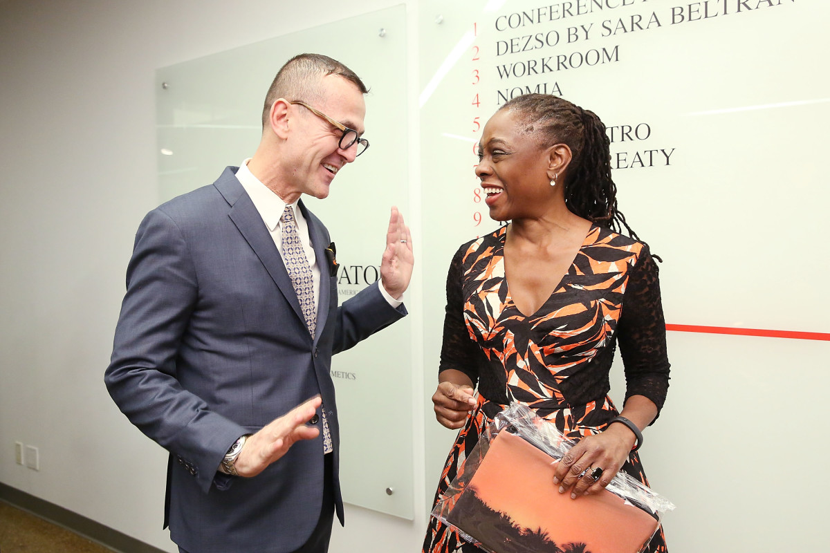 Steven Kolb with First Lady of New York City, Chirlane McCray, in February. Photo: Mireya Acierto/Getty Images