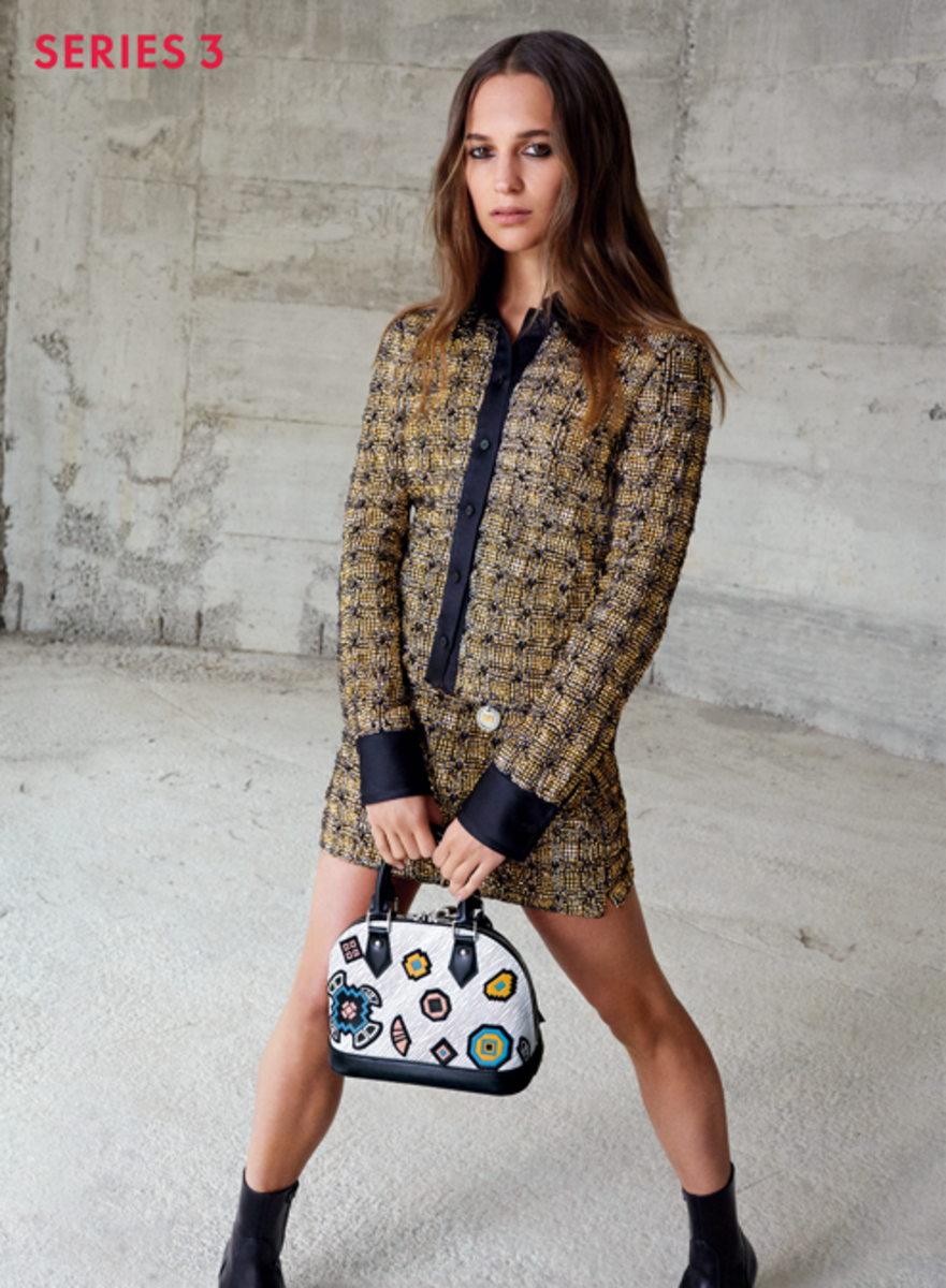 louis vuitton 2015. alicia vikander in louis vuitton\u0027s fall 2015 campaign. photo: vuitton /facebook