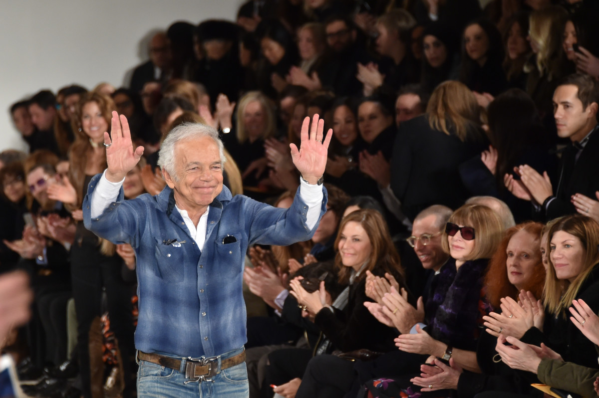 Ralph Lauren at his fall 2015 runway show. Photo: Mike Coppola/Getty Images for Mercedes-Benz Fashion Week