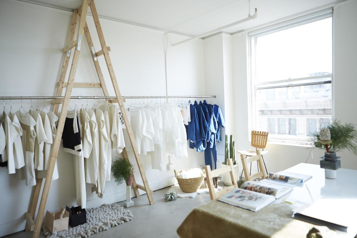 The SoCal meets Tokyo meets Paris Atelier Delphine showroom. Photo: Atelier Delphine