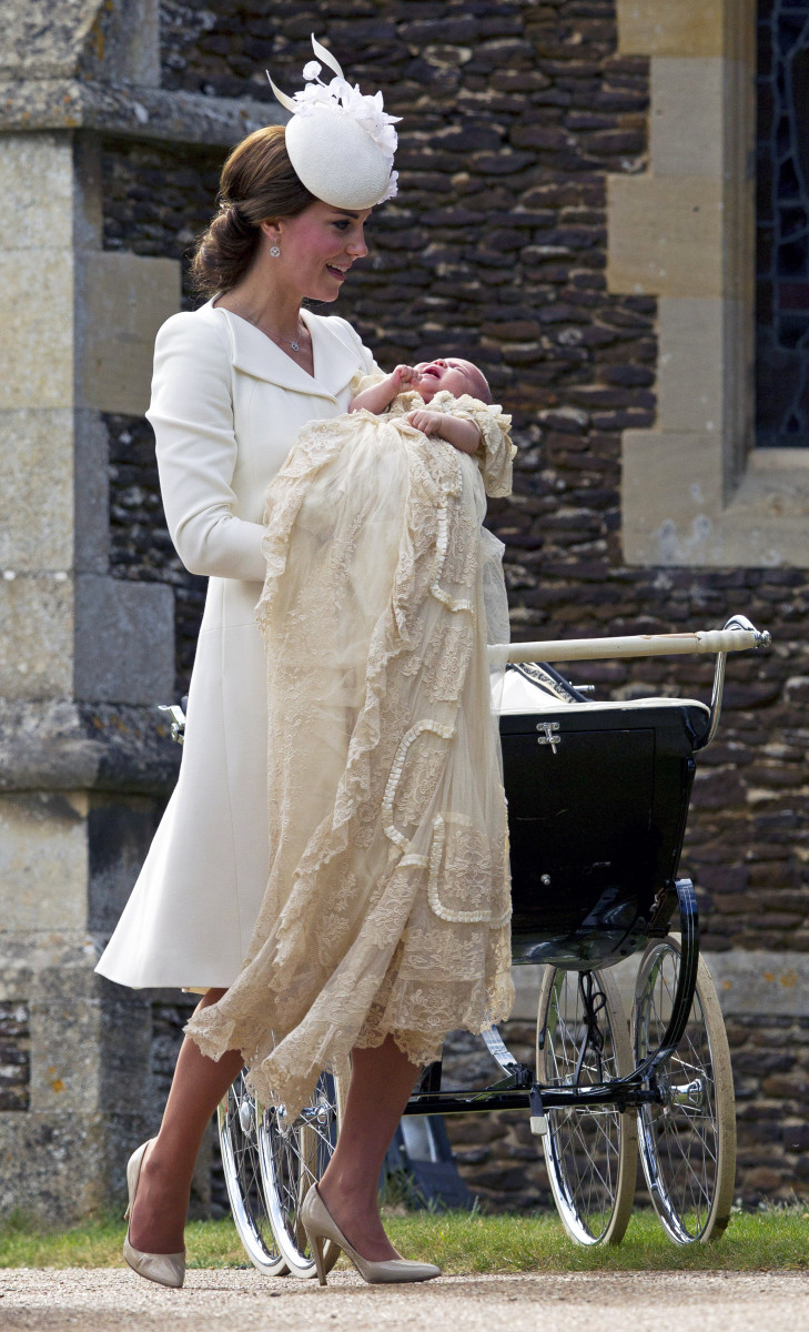 When your baby's dress is longer than yours. Photo: Chris Jackson/Getty Images