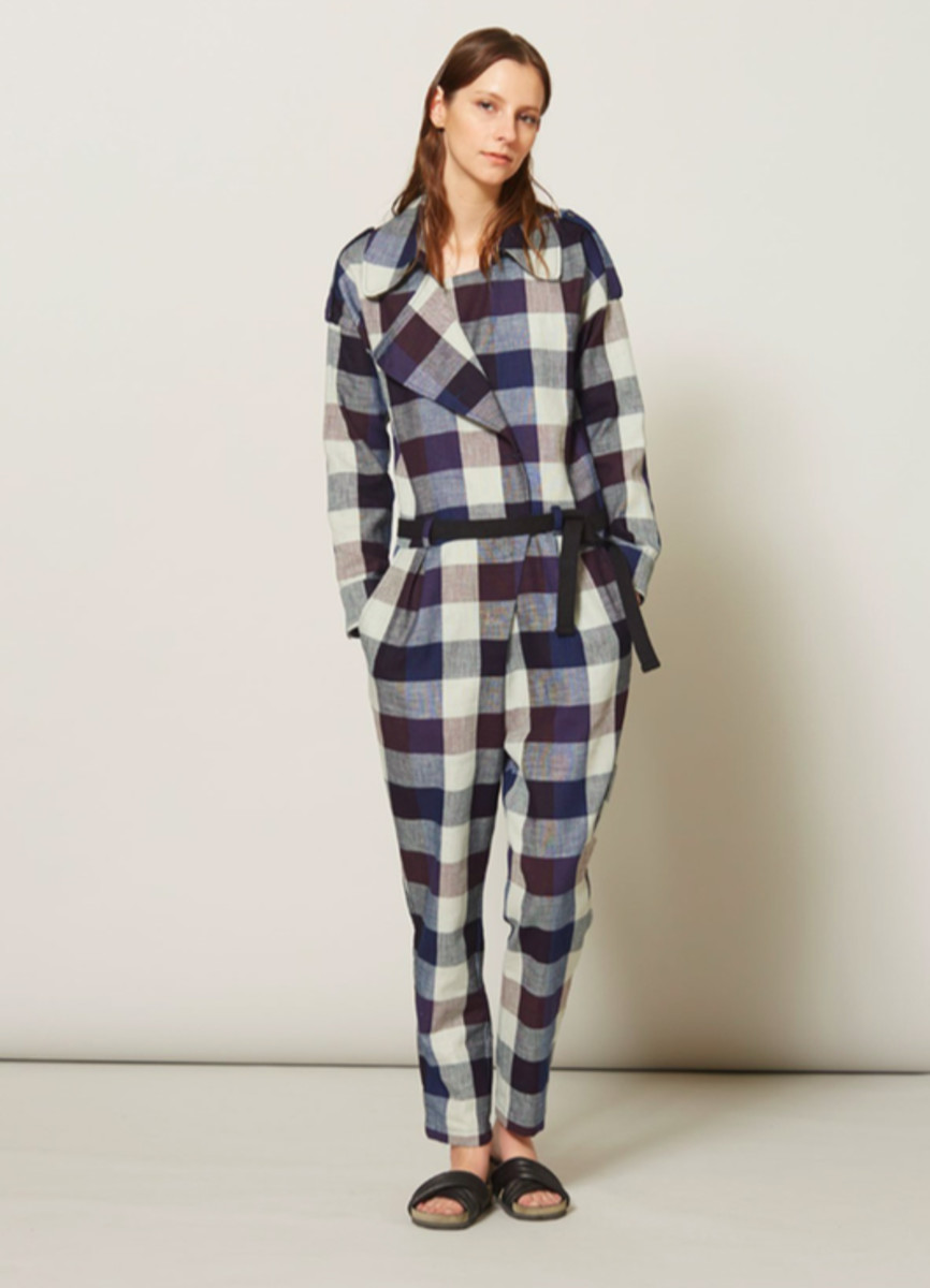 Her gingham game is on-point. A look from the fall 2015 collection. Photo: Atelier Delphine