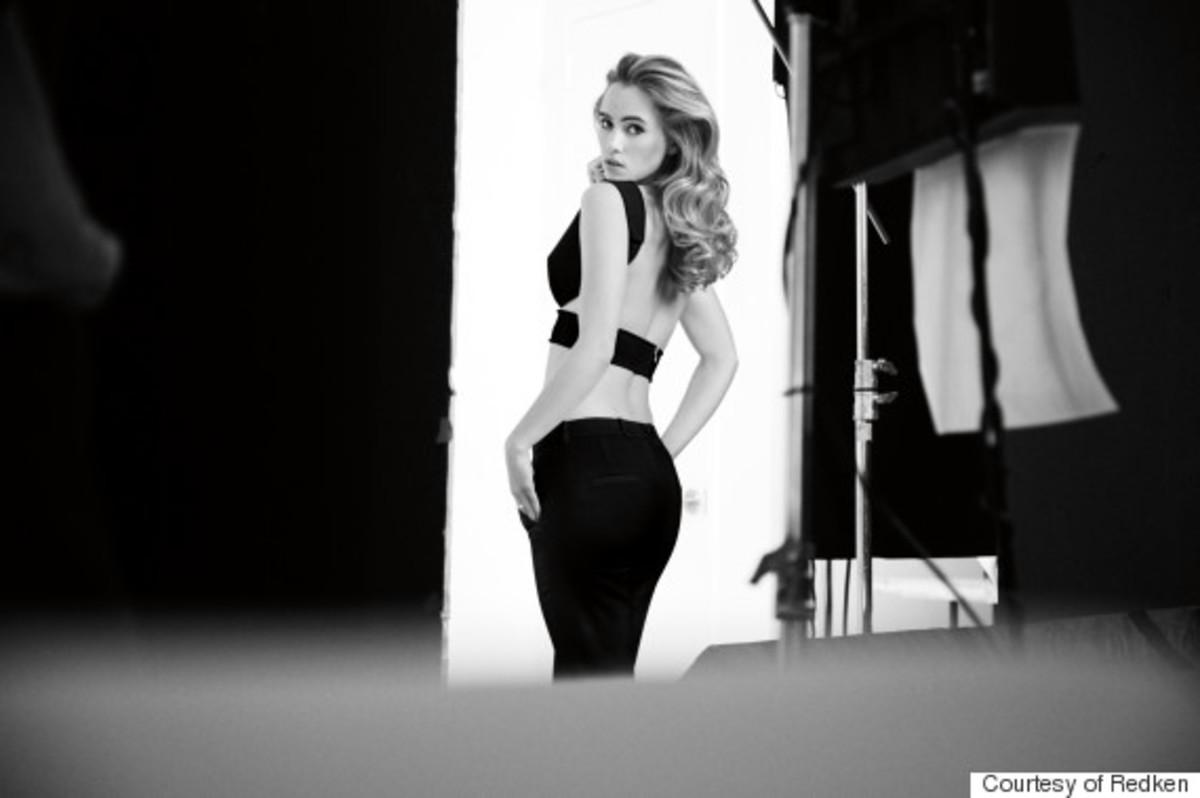 Suki Waterhouse modeling for Redken. Photo: Redken