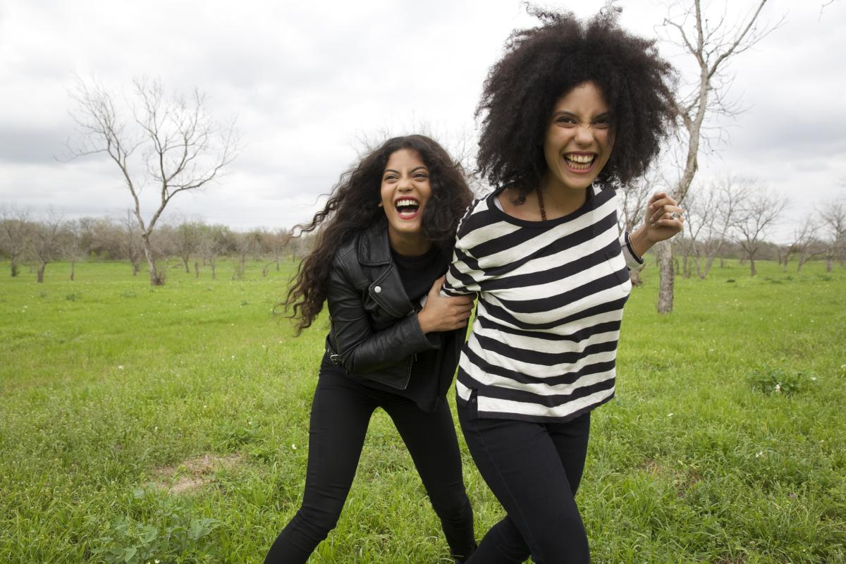 Music duo (and twins) Ibeyi in Levi's new 700 Series denim. Photo: Levi's