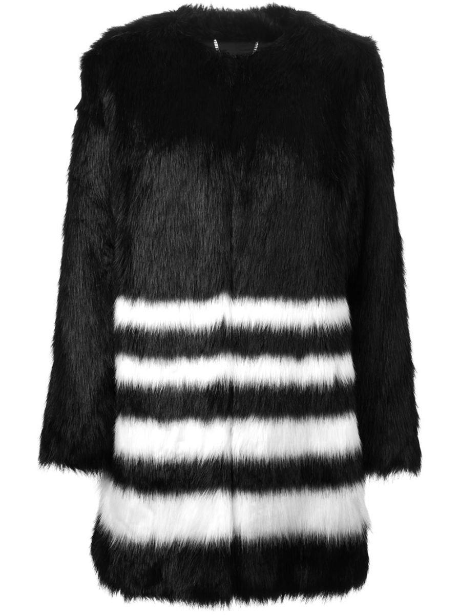 Michael Michael Kors faux-fur coat, $370.36, available at Farfetch.
