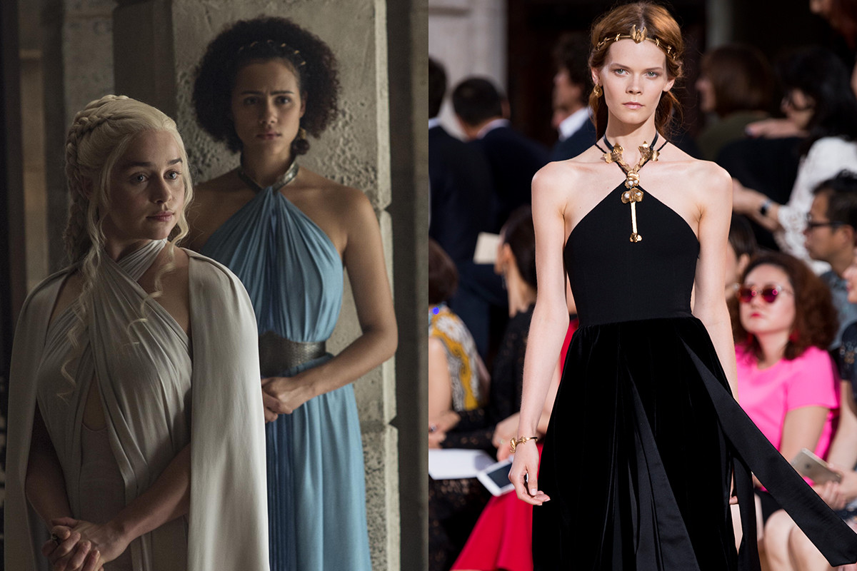 Similar necklines. Photos: HBO/Imaxtree