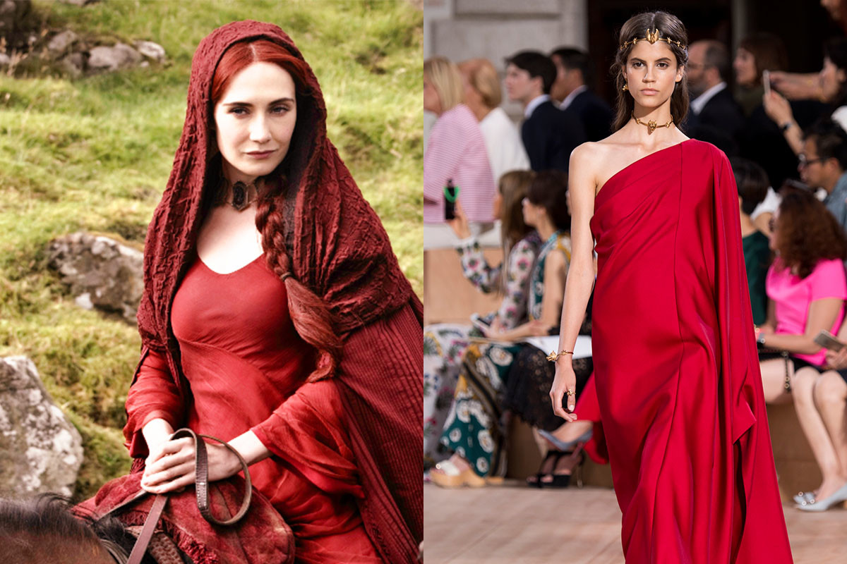 Red hot Melisandre. Photos: HBO/Imaxtree