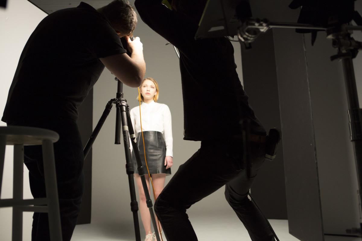 Tavi backstage at her Clinique shoot. Photo: Clinique