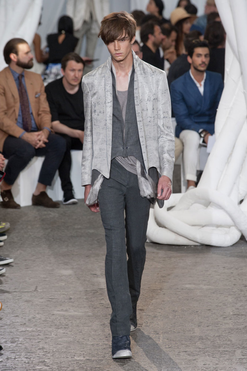 A look from the John Varvatos spring 2015 show in Milan. Photo: Imaxtree
