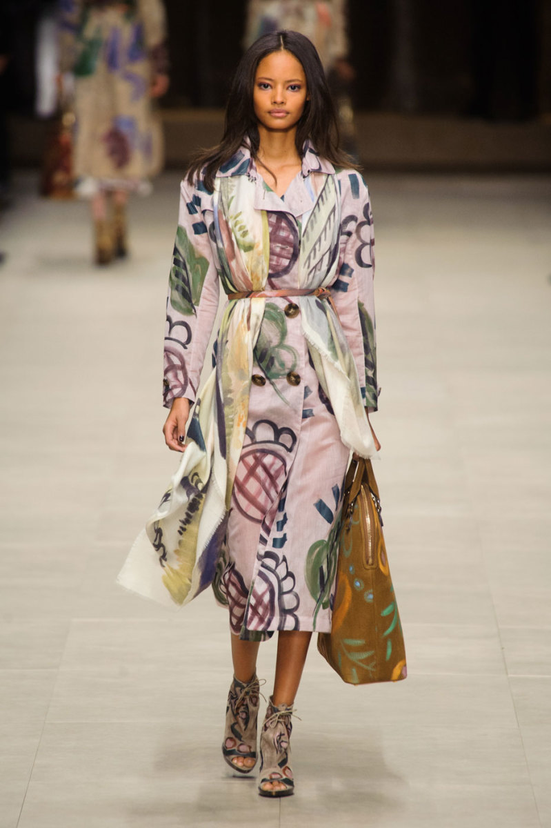 A look from a recent Burberry show. Photo: Imaxtree