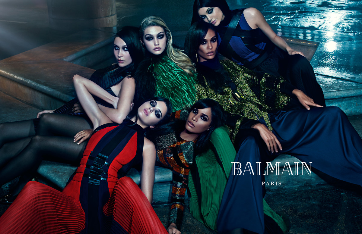 Kylie and kendall jenner balmain fall campaign photo