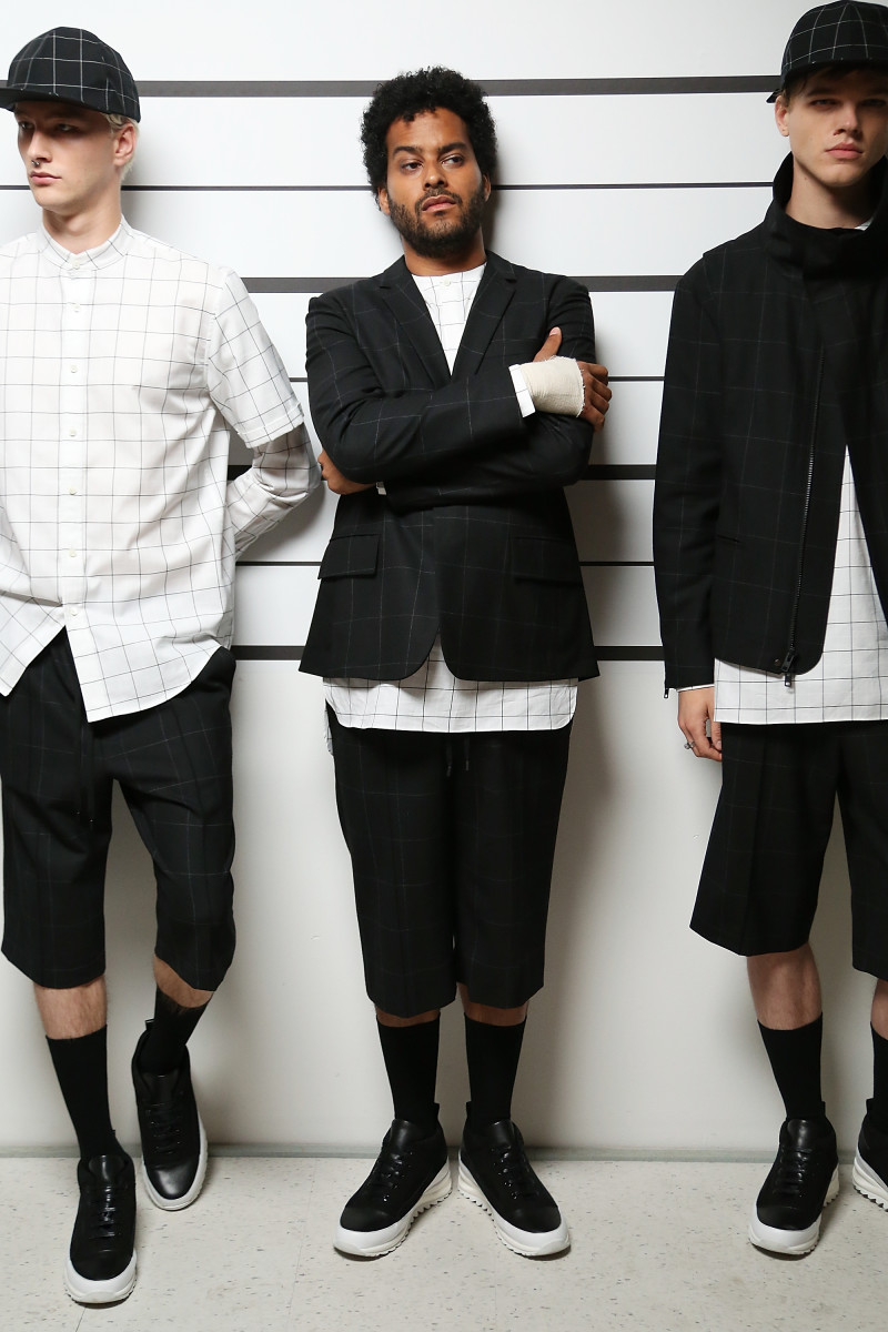 Twin Shadow (center) at Public School. Monica Schipper/Getty Images.