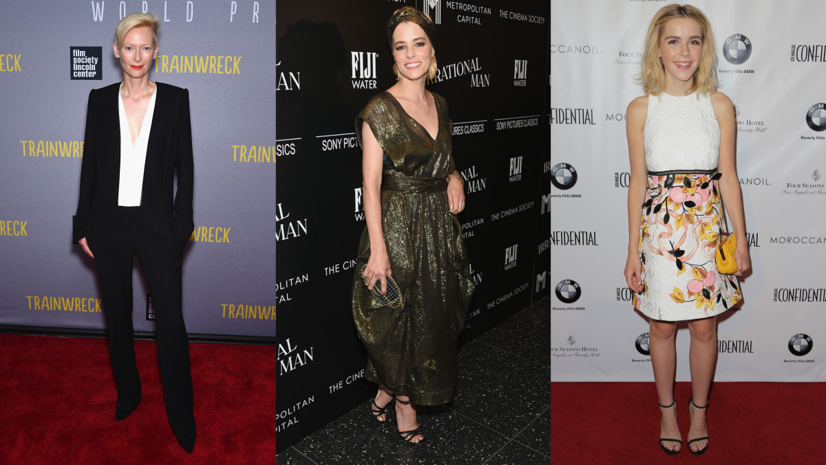 Tilda Swinton, Parker Posey and Kiernan Shipka. Photos: Dimitrios Kambouris/Getty Images (2), Chelsea Lauren/Getty Images for Niche Media