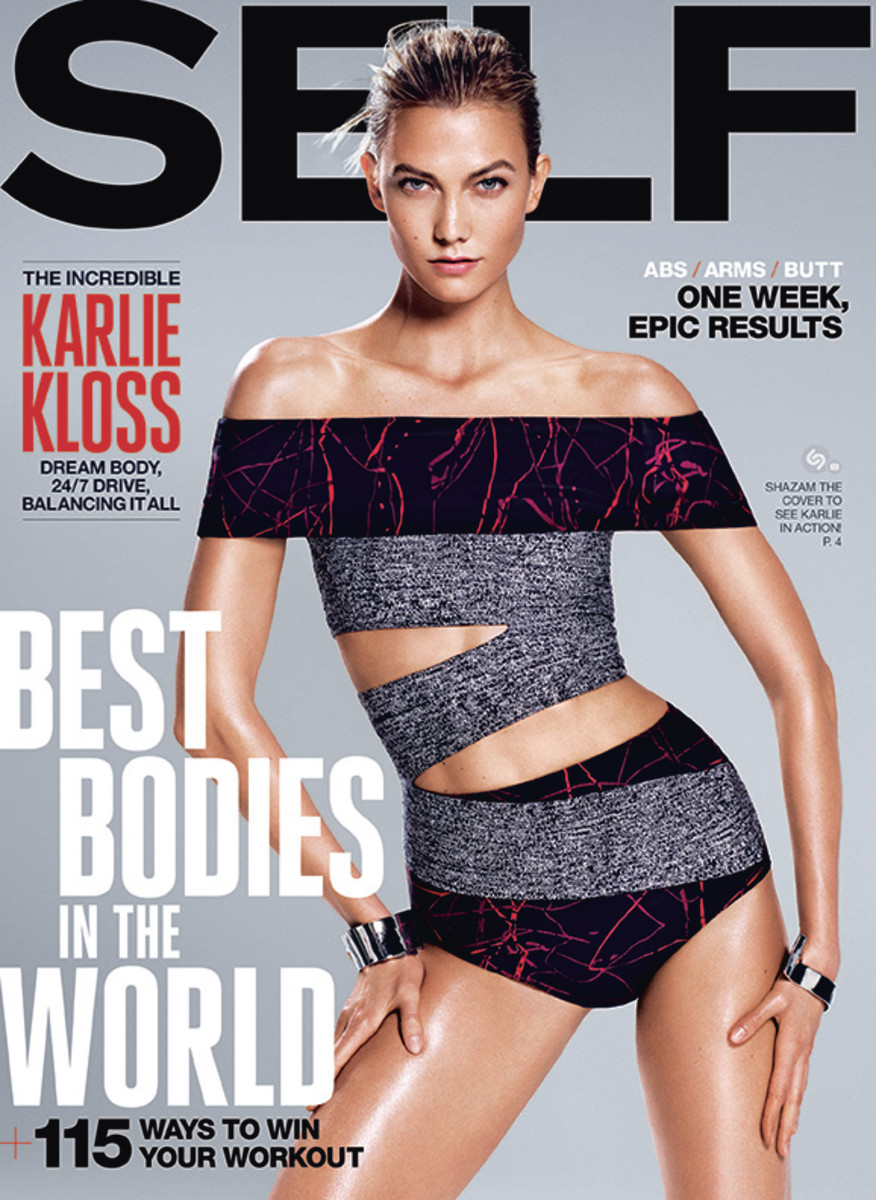 Karlie Kloss wears Proenza Schouler on the cover of the August 2015 issue of 'Self.' Photo: Paola Kudacki/Self