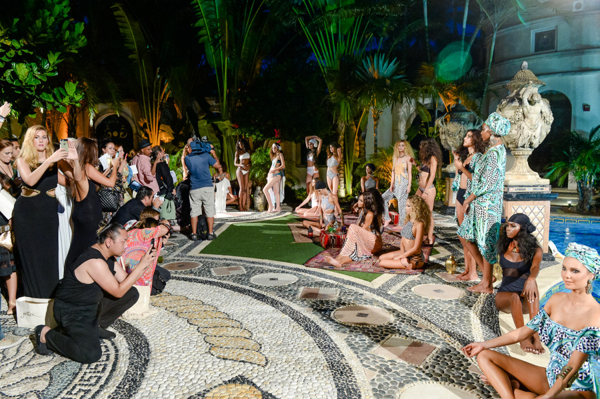Mara Hoffman's presentation at the Versace Mansion. Photo: BFA