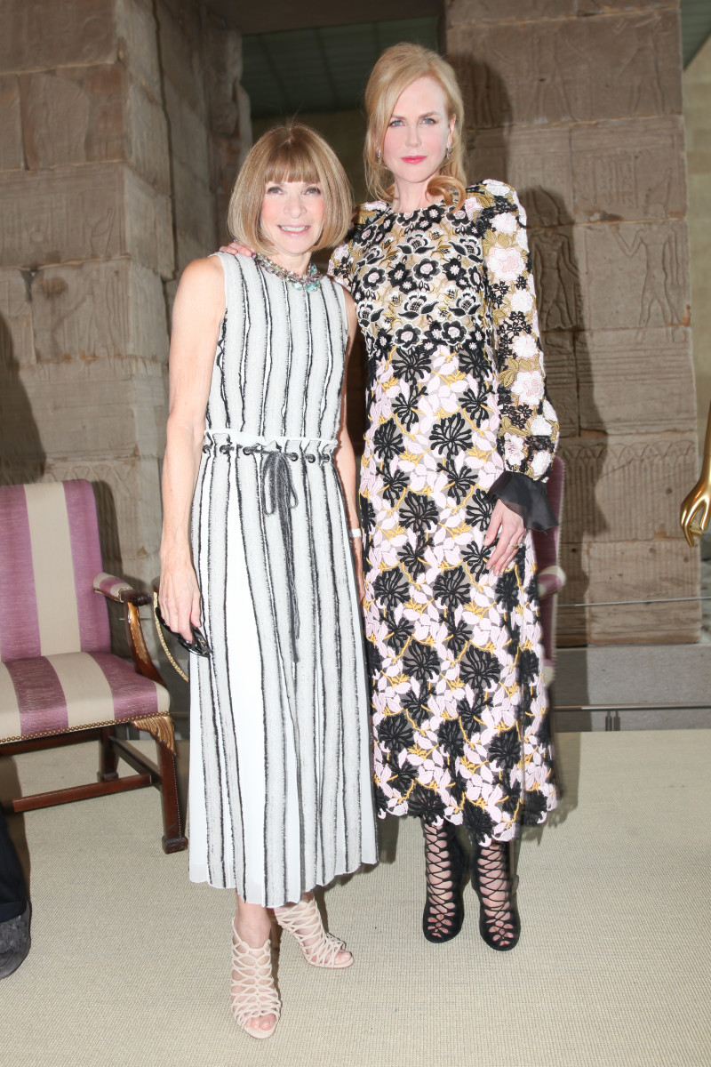 Anna Wintour possibly having a little bit of a fangirl moment with Kidman. Photo: Vogue